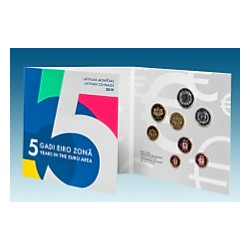 LETTONIE - COFFRET EURO BRILLANT UNIVERSEL 2019 - 8 PIECES (3.88 euros)