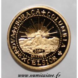 ETATS UNIS - DOUBLON DE BRASHER 1787 - REFRAPPE - OR