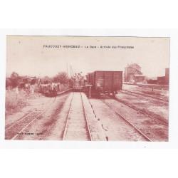 02270 - FAUCOUZY MONCEAU - LA GARE - ARRIVÉE DES PHOSPHATES