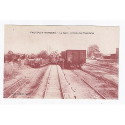 County 02270 - FAUCOUZY MONCEAU - THE RAILWAY - ARRIVAL OF PHOSPHATES