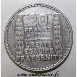 FRANCE - KM 879 - 20 FRANCS 1937 - TYPE TURIN