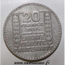 GADOURY 852 - 20 FRANCS 1937 - TYPE TURIN - KM 879