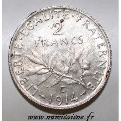 FRANCE - KM 845 - 2 FRANCS 1914 C - Castelsarrasin - TYPE SOWER