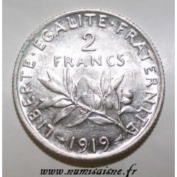FRANCE - KM 845 - 2 FRANCS 1919 - TYPE SOWER
