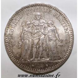 FRANCE - KM 820 - 5 FRANCS 1876 A - Paris - TYPE HERCULE