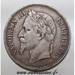 FRANCE - KM 799 - 5 FRANCS 1867 - A Paris - TYPE NAPOLEON III