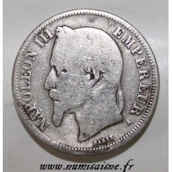 FRANCE - KM 807 - 2 FRANCS 1867 A - Paris - TYPE NAPOLEON III
