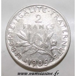 FRANCE - KM 845 - 2 FRANCS 1905 - TYPE SOWER