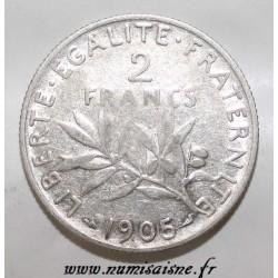 GADOURY 532 - 2 FRANCS 1905 - TYPE SEMEUSE - KM 845