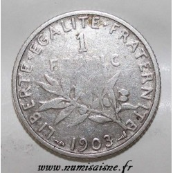 FRANCE - KM 844.1 - 1 FRANC 1903 - TYPE SOWER
