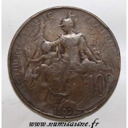 FRANCE - KM 843 - 10 CENTIMES 1909 - TYPE DUPUIS