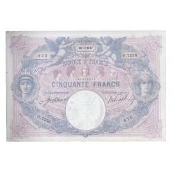 FAY 14/21 - 50 FRANCS 1917 - 25.01 - TYPE BLEU ET ROSE - PICK 64