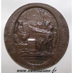 MONNAIE DE CONFIANCE - 5 SOLS DE MONNERON - 1792 - FLAN COURT - LIMÉ