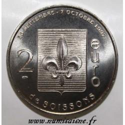County 02 - SOISSONS - EURO OF CITY - 20 EURO 1997 - CLOVIS - The vase scene