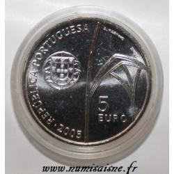 PORTUGAL - KM 761 - 5 EURO 2005 - MONASTERY OF BATALHA