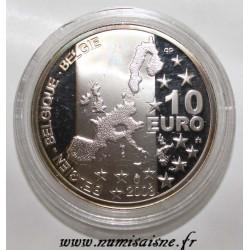 BELGIUM - 10 EUROS 2003 - GEORGES SIMENON