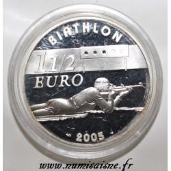 FRANCE - KM 1423 - 1 1/2 EURO 2005 - BIATHLON