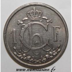 LUXEMBOURG - KM 46.1 - 1 FRANC 1946 - TYPE CHARLOTTE GRAND MODULE