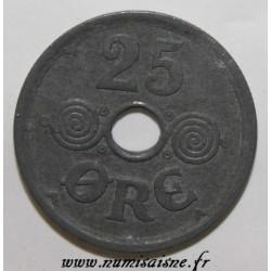 DANEMARK - KM 823.2a - 25 ORE 1945 - CHRISTIAN X