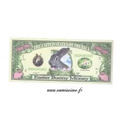 ÉTATS UNIS - 1.000.000 DOLLARS 2003 - LAPIN DE PÂQUES - BILLET FANTAISIE