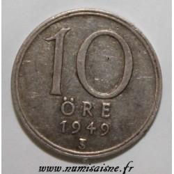 SUÈDE - KM 813 - 10 ORE 1949 - GUSTAF V
