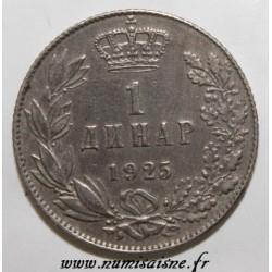 YOUGOSLAVIE - KM 5 - 1 DINAR 1925