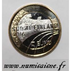 FINLANDE - KM 244 - 5 EURO 2016 - SKI DE FOND