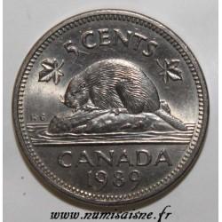 CANADA - KM 60.2a - 5 CENTS 1989 - ELISABETH II