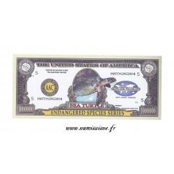 ÉTATS UNIS - 1.000.000 DOLLARS 2004 - ANIMAUX - ECPÈCES EN DANGER - TORTUE DE MER - BILLET FANTAISIE