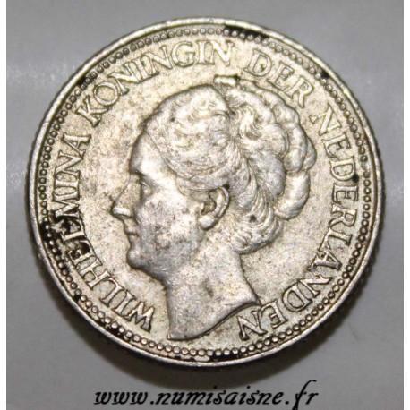 PAYS BAS - KM 164 - 25 CENTS 1941 - WILHEMINA