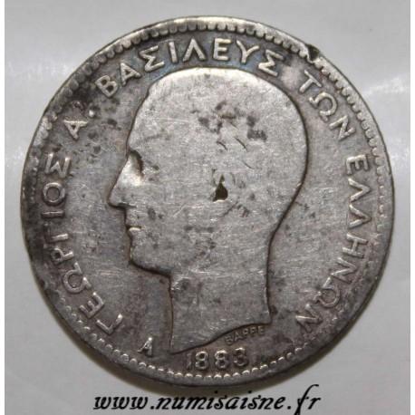 GRÈCE - KM 38 - 1 DRACHME 1883 - GEORGE I