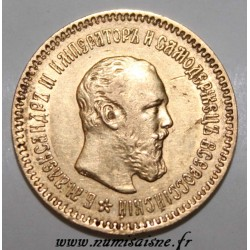 RUSSIE - Y 42 - 5 ROUBLES 1889 - ALEXANDRE III - OR