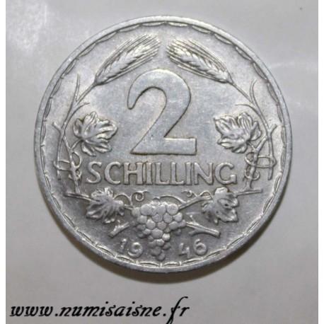 AUTRICHE - KM 2872 - 2 SCHILLING 1946