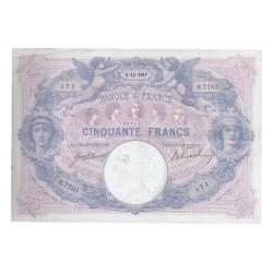 FAY 14/30 - 50 FRANCS 1917 - 06.12 - TYPE BLEU ET ROSE - PICK 64