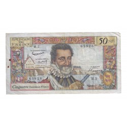 FRANCE - PICK 143 - 50 NEW FRANCS 1959 - 05.03 - HENRI IV