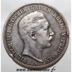 ALLEMAGNE - PRUSSE - KM 523 - 5 MARK 1902 - WILHELM II