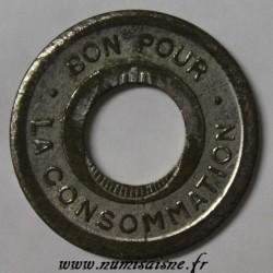 ALGÉRIE - BON POUR LA CONSOMMATION - TROUÉE AVEC POINT SEUL, SANS DIFFÉRENT NI SIGNATURE