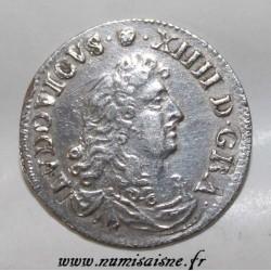 Gad 103 - LOUIS XIV - 4 SOLS DES TRAITANTS - 1675 D - Vimy - KM 232