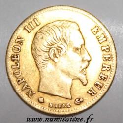 FRANCE - KM 787.2 - 5 FRANCS 1859 BB - Strasbourg - NAPOLEON III - GOLD