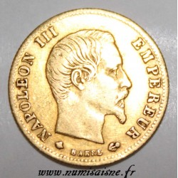 FRANKREICH - KM 787.2 - 5 FRANCS 1859 BB - Strasbourg - NAPOLEON III - GOLD