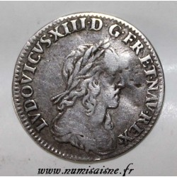 Gad 46 - LOUIS XIII - 1/12 ECU - 1642 A - 2e POINCON DE WARIN - ROSE