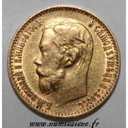 RUSSIE - Y 62 - 5 ROUBLES 1899 ФЗ - Saint-Pétersbourg - NICHOLAS II - OR