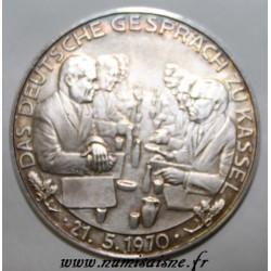 DEUTSCHLAND - MEDAILLE - DAS DEUTSCHE GESPRÄCH ZU KASSEL - 21.05.1970