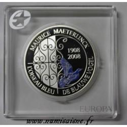 BELGIQUE - KM 266 - 10 EURO 2008 - MAURICE MAETERLINCK - L'OISEAU BLEU - DE BLAUWE VOGEL