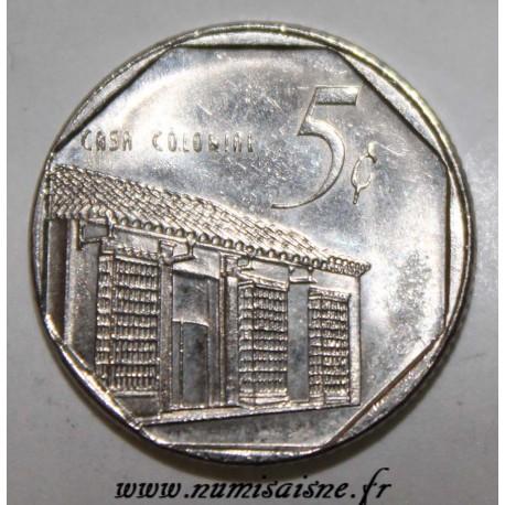 CUBA - KM 575.2 - 5 CENTAVOS 2000