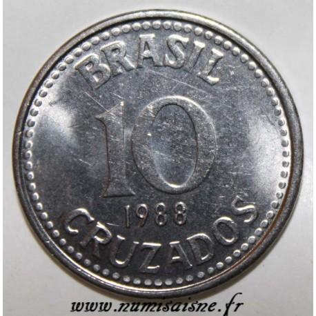 BRAZIL - KM 607 - 10 CRUZADOS 1988