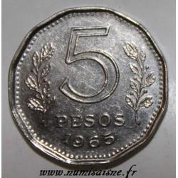 ARGENTINA - KM 59 - 5 PESOS 1965