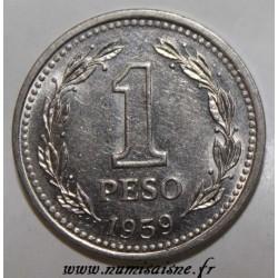 ARGENTINA - KM 57 - 1 PESO 1959