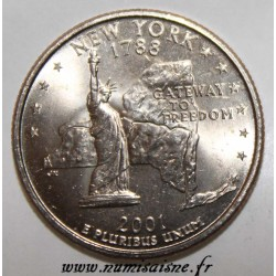 UNITED STATES - KM 318 - 1/4 DOLLAR 2001 P - NEW YORK