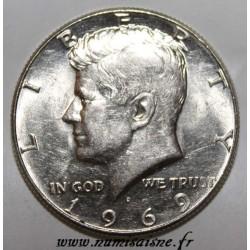 UNITED STATES - KM 202 a - 1/2 DOLLAR 1969 D - Denver - John Fitzgerald Kennedy
